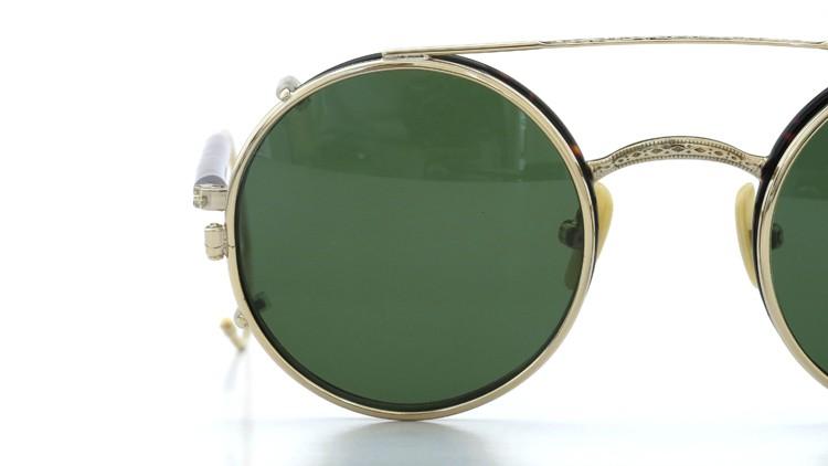 MOSCOT ORIGINALS (モスコット) 2014年新作 メガネ+クリップオンサングラス セット NOSH 44size Tortoise-Gold with clipon Green-lense 15