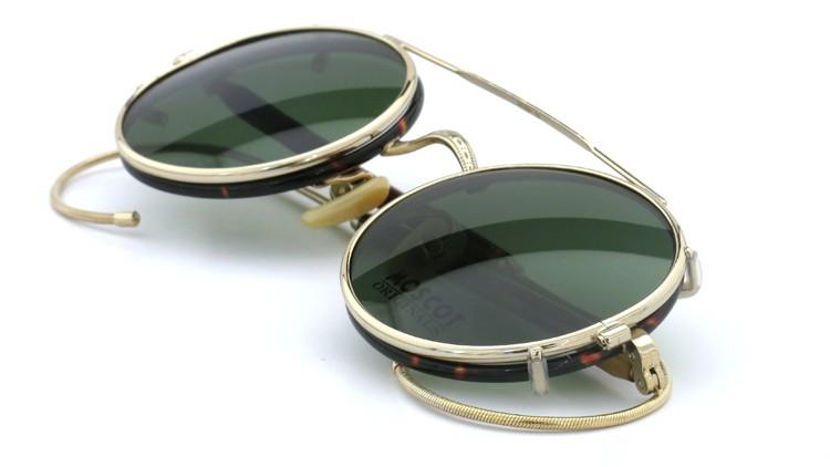 MOSCOT ORIGINALS (モスコット) 2014年新作 メガネ+クリップオンサングラス セット NOSH 44size Tortoise-Gold with clipon Green-lense 12