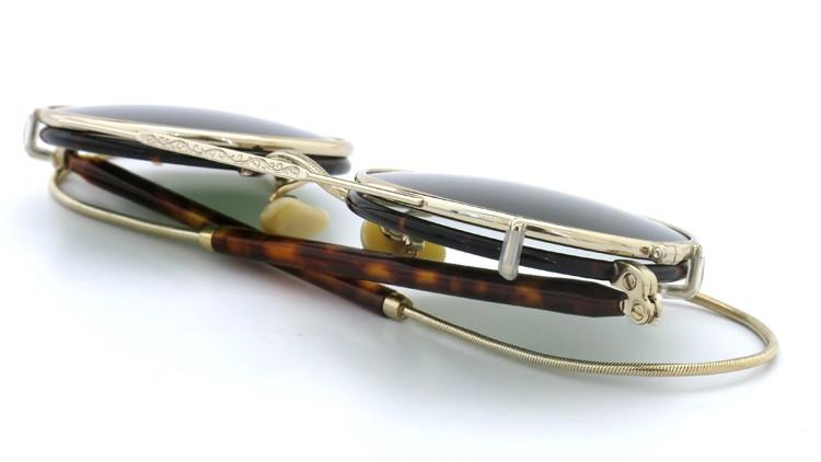 MOSCOT ORIGINALS (モスコット) 2014年新作 メガネ+クリップオンサングラス セット NOSH 44size Tortoise-Gold with clipon Green-lense 13