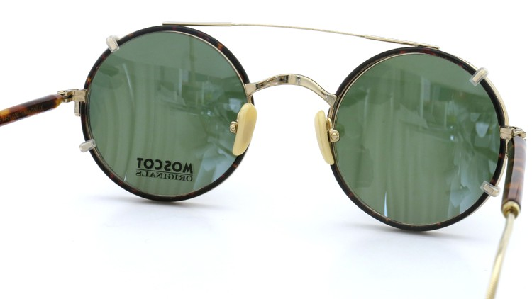 MOSCOT ORIGINALS (モスコット) 2014年新作 メガネ+クリップオンサングラス セット NOSH 44size Tortoise-Gold with clipon Green-lense 8