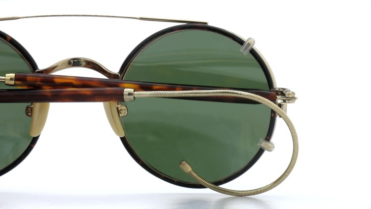 MOSCOT ORIGINALS (モスコット) 2014年新作 メガネ+クリップオンサングラス セット NOSH 44size Tortoise-Gold with clipon Green-lense 14