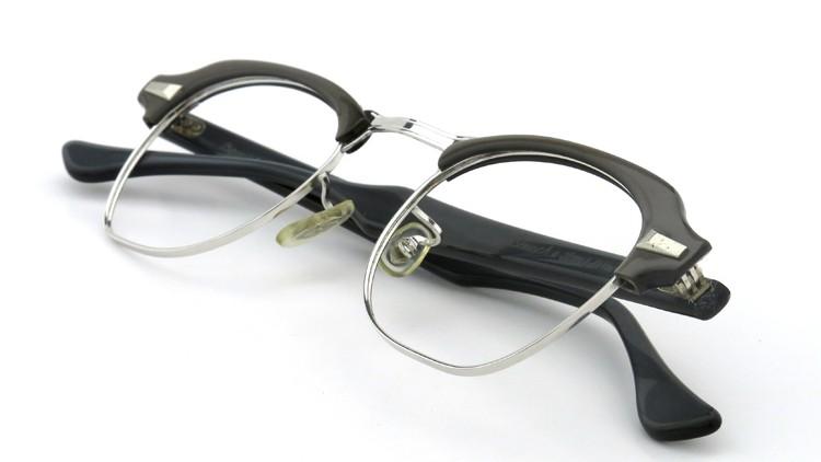 Bausch&Lomb B&L ボシュロム ヴィンテージ メガネ ワイヤー 1/10 12KGF CASTLE-GREY 46-22 11