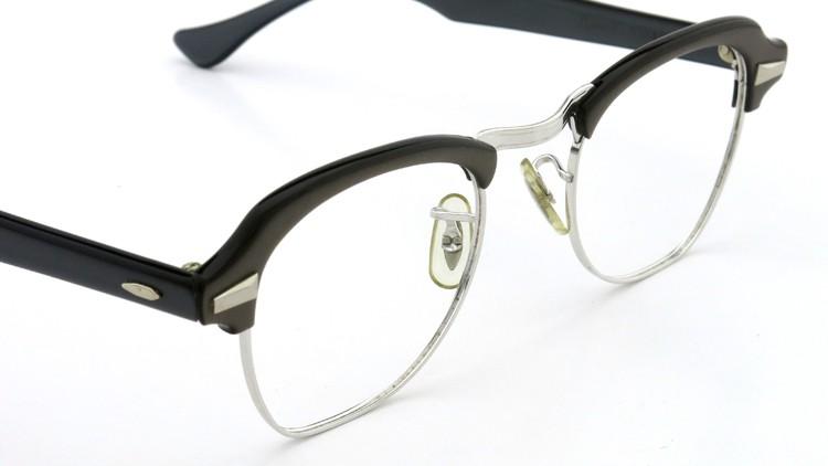 Bausch&Lomb B&L ボシュロム ヴィンテージ メガネ ワイヤー 1/10 12KGF CASTLE-GREY 46-22 6
