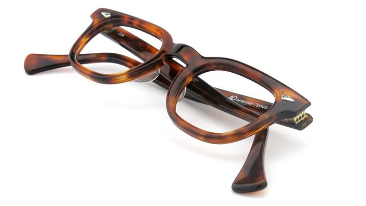 American Optical アメリカンオプチカル (AO)Vintage ヴィンテージ メガネ STADIUM ダイヤ鋲 4568 RF23 TORTOISE 44-24 11