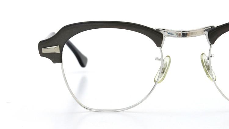 Bausch&Lomb B&L ボシュロム ヴィンテージ メガネ ワイヤー 1/10 12KGF CASTLE-GREY 46-22 14