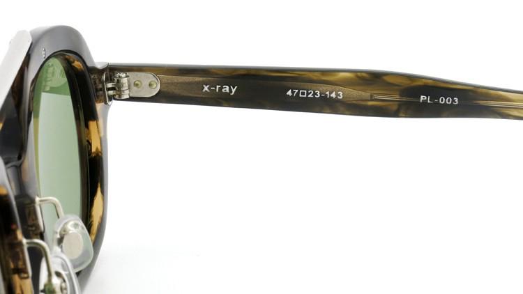 OAMC(オーバーオールマスタークロス)サングラス x-ray X-レイ 47size OLIVE SASA/LT GREEN 10
