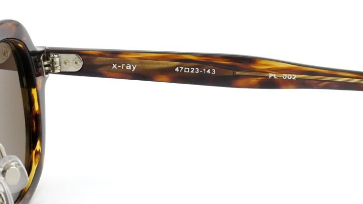 OAMC(オーバーオールマスタークロス)サングラス x-ray X-レイ 47size WOOD SASA/BROWN 10