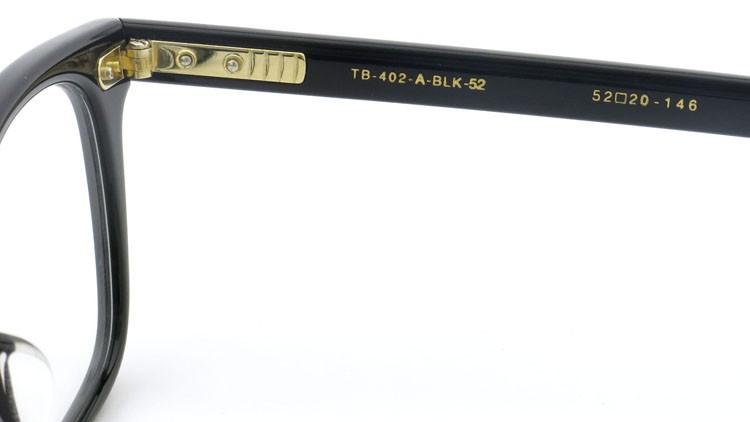 トムブラウン THOM BROWNE メガネ TB-402-A 52size Black 11