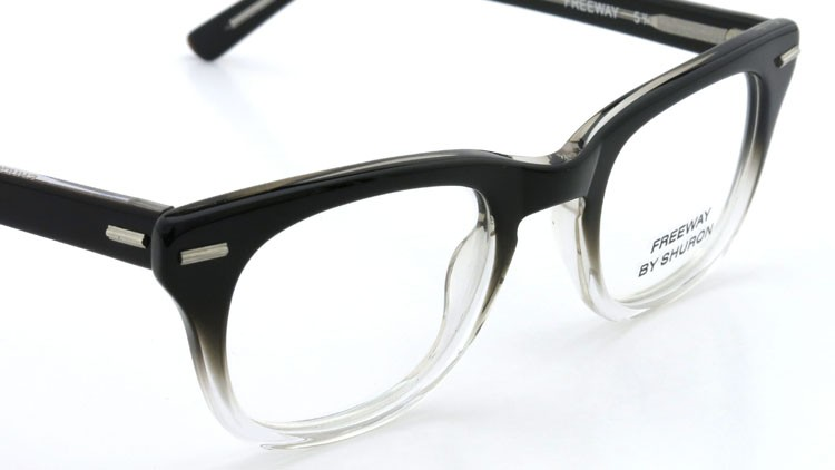 SHURON(シュロン) メガネ FREEWAY BLACK/CLEAR 48size 6