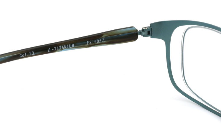 spec espace (スペックエスパス) メガネ ES-6067 β-TITANIUM col.23 ブルーグレー/エメラルド 9