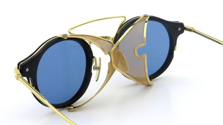 THOM BROWNE.  NEWYORK(トムブラウンニューヨーク) 2014 F/W サングラス TB-804-B NVY-18kGLD 45size Dark-blue-Gold-flash 16