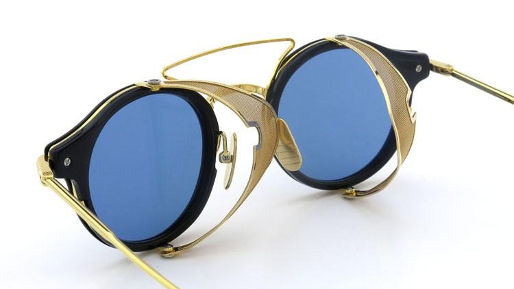 THOM BROWNE.  NEWYORK(トムブラウンニューヨーク) 2014 F/W サングラス TB-804-B NVY-18kGLD 45size Dark-blue-Gold-flash 15