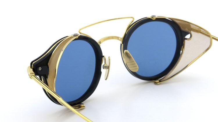 THOM BROWNE.  NEWYORK(トムブラウンニューヨーク) 2014 F/W サングラス TB-804-B NVY-18kGLD 45size Dark-blue-Gold-flash 12