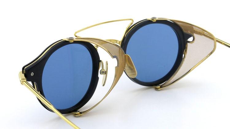 THOM BROWNE.  NEWYORK(トムブラウンニューヨーク) 2014 F/W サングラス TB-804-B NVY-18kGLD 45size Dark-blue-Gold-flash 14