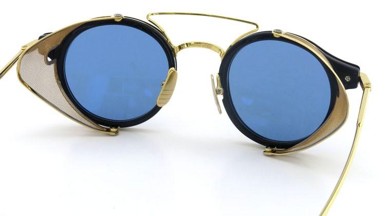 THOM BROWNE.  NEWYORK(トムブラウンニューヨーク) 2014 F/W サングラス TB-804-B NVY-18kGLD 45size Dark-blue-Gold-flash 7