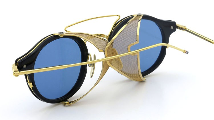 THOM BROWNE.  NEWYORK(トムブラウンニューヨーク) 2014 F/W サングラス TB-804-B NVY-18kGLD 45size Dark-blue-Gold-flash 17