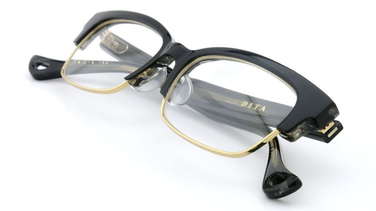 DITA  (ディータ) メガネ RIRE リール DRX-3024-A-BLK-GLD 50size 12