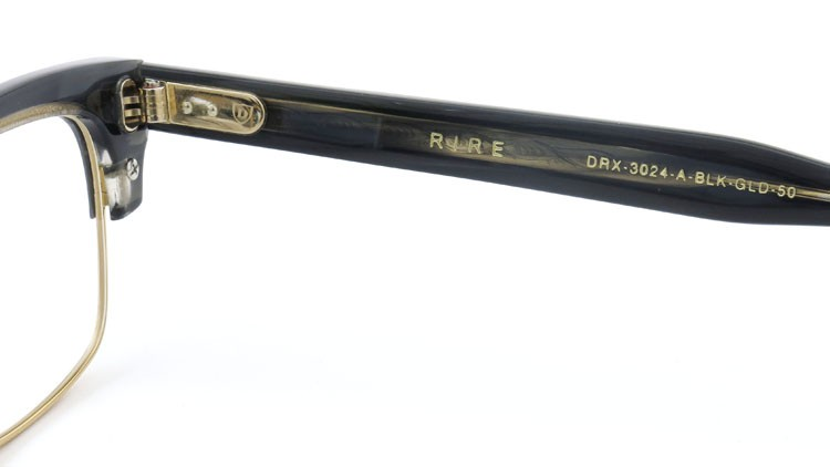 DITA  (ディータ) メガネ RIRE リール DRX-3024-A-BLK-GLD 50size 10