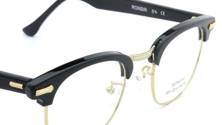 SHURON (シュロン) メガネ RONSIR ロンサー ZYL Black/Gold 48-22 6
