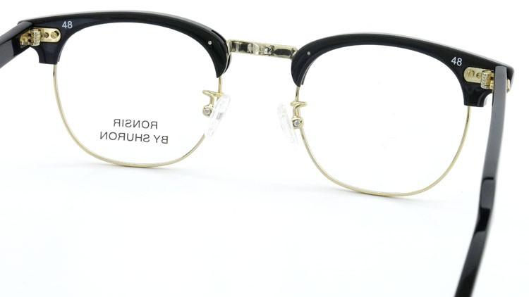 SHURON (シュロン) メガネ RONSIR ロンサー ZYL Black/Gold 48-22 7