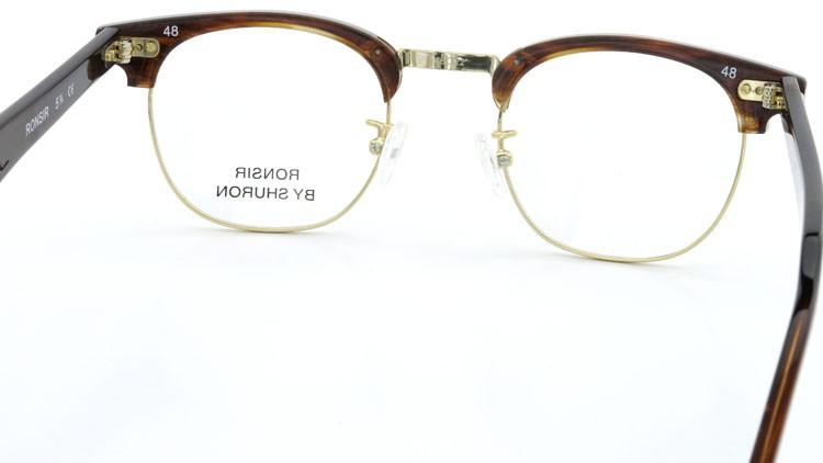 SHURON (シュロン) メガネ RONSIR ロンサー ZYL Tortoise/Gold 48-22 7