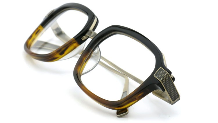 DITA (ディータ) メガネ LEXINGTON レキシントン DRX-2033-E Black-Tortoise-Fade Brushed-12K-Gold 52size 12