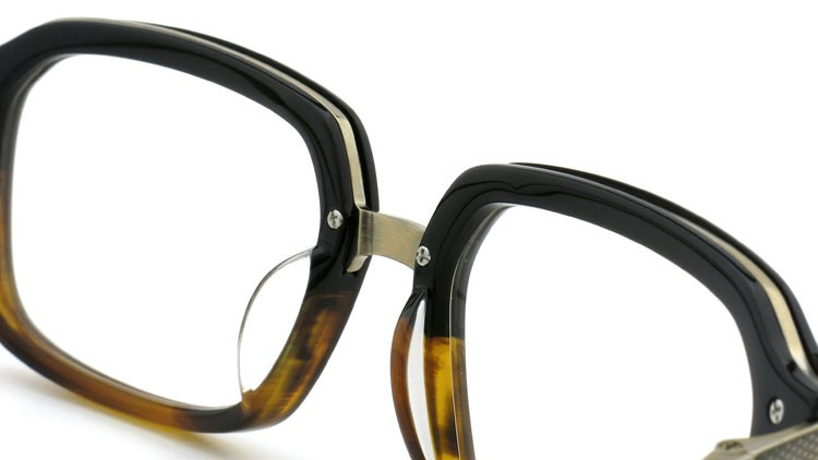 DITA (ディータ) メガネ LEXINGTON レキシントン DRX-2033-E Black-Tortoise-Fade Brushed-12K-Gold 52size 7