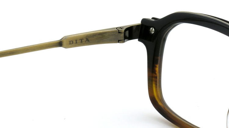 DITA (ディータ) メガネ LEXINGTON レキシントン DRX-2033-E Black-Tortoise-Fade Brushed-12K-Gold 52size 8