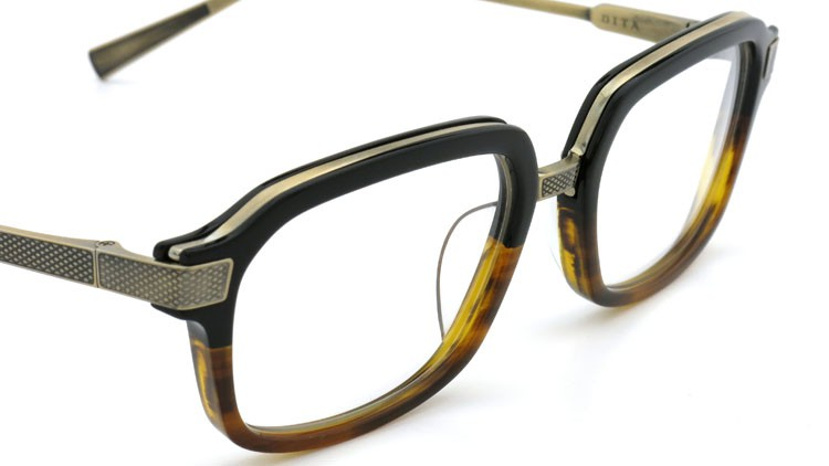 DITA (ディータ) メガネ LEXINGTON レキシントン DRX-2033-E Black-Tortoise-Fade Brushed-12K-Gold 52size 5