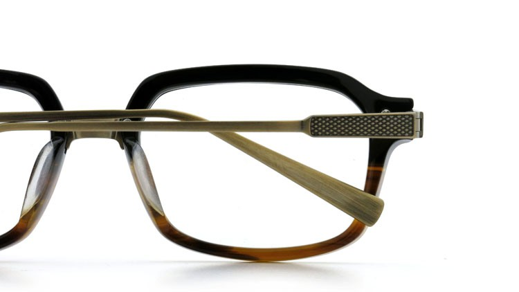 DITA (ディータ) メガネ LEXINGTON レキシントン DRX-2033-E Black-Tortoise-Fade Brushed-12K-Gold 52size 14