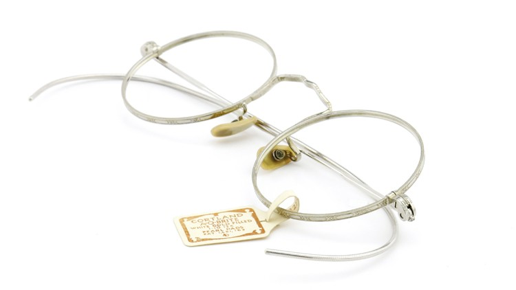 American Optical アメリカン オプティカル  antique アンティーク メガネ 1930s MARSHWOOD 1/10 12kGF 40□20 WHITE-GOLD 12