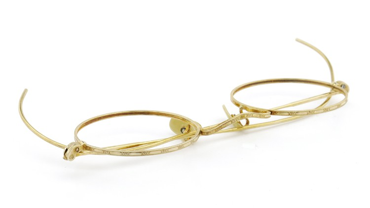 American Optical アメリカン オプティカル  antique アンティーク メガネ 1930s MARSHWOOD 1/10 12kGF 40□24 Yellow-Gold 13