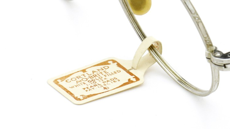 American Optical アメリカン オプティカル  antique アンティーク メガネ 1930s MARSHWOOD 1/10 12kGF 40□20 WHITE-GOLD 1
