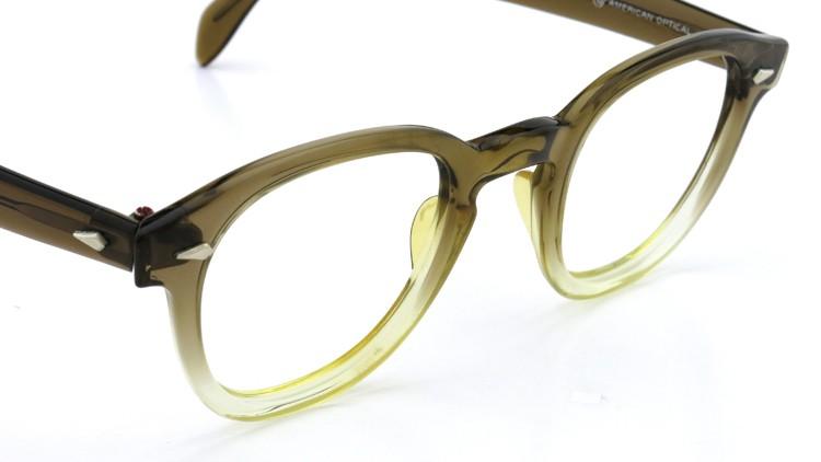 American Optical アメリカンオプティカル (AO)Vintage ヴィンテージ タ?イヤ鋲 ボストン Grey-Fade / Grey 46-20 6