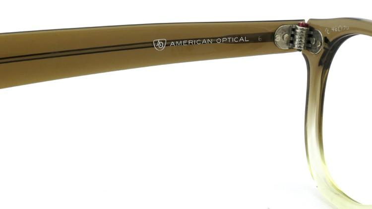 American Optical アメリカンオプティカル (AO)Vintage ヴィンテージ タ?イヤ鋲 ボストン Grey-Fade / Grey 46-20 9