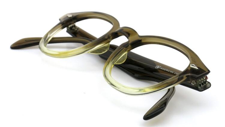 American Optical アメリカンオプティカル (AO)Vintage ヴィンテージ タ?イヤ鋲 ボストン Grey-Fade / Grey 46-20 12