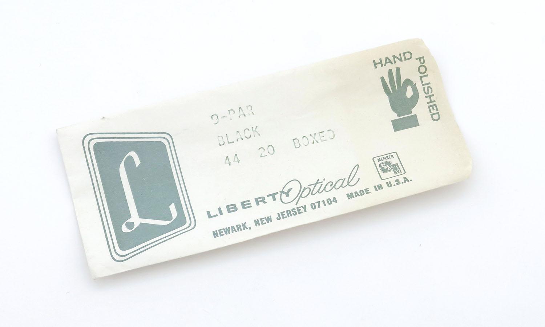 LIBERTY Optical 1950's vintage メガネ 9-PAR BLACK 44-20 16