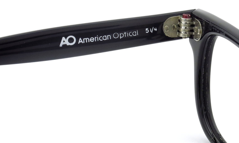 American Optical アメリカンオプティカル (AO)Vintage ヴィンテージメガネ F523 MAIN EVENT 変形ダイヤ鋲 BLACK 44-22 9