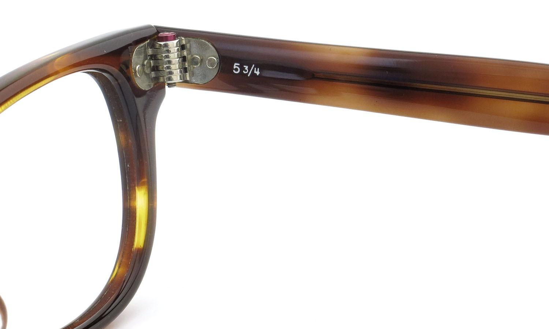American Optical アメリカンオプティカル (AO)Vintage ヴィンテージメガネ F523 MAIN EVENT 変形ダイヤ鋲 AMBER 44-24 10