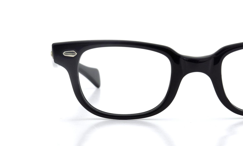 American Optical アメリカンオプティカル (AO)Vintage ヴィンテージメガネ F523 MAIN EVENT 変形ダイヤ鋲 BLACK 44-22 14