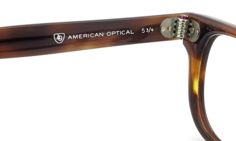 American Optical アメリカンオプティカル (AO)Vintage ヴィンテージメガネ F523 MAIN EVENT 変形ダイヤ鋲 AMBER 44-24 9