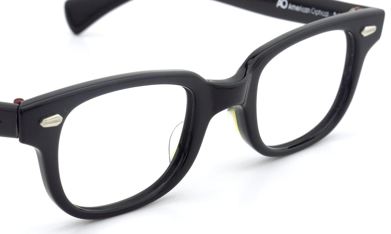 American Optical アメリカンオプティカル (AO)Vintage ヴィンテージメガネ F523 MAIN EVENT 変形ダイヤ鋲 BLACK 44-22 6
