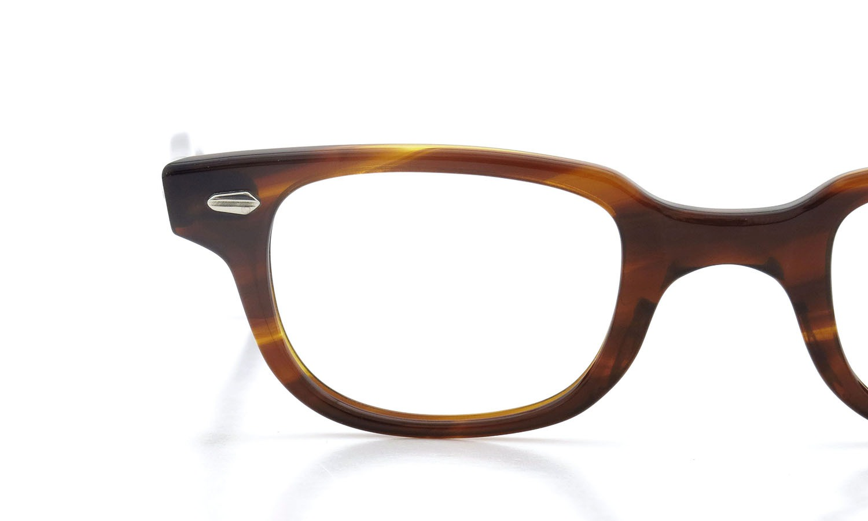 American Optical アメリカンオプティカル (AO)Vintage ヴィンテージメガネ F523 MAIN EVENT 変形ダイヤ鋲 AMBER 44-24 14