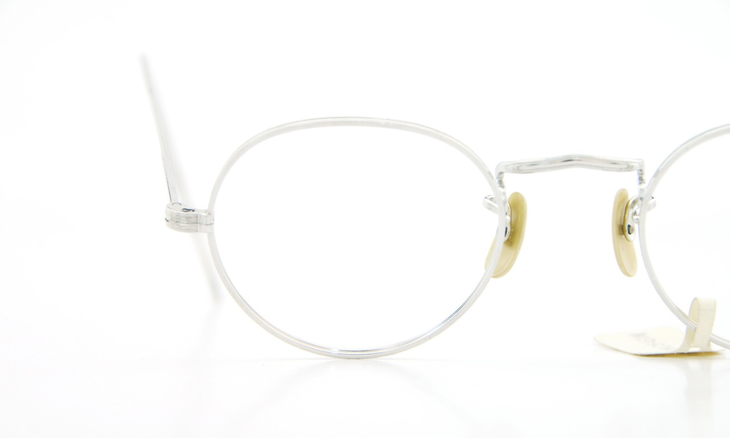 American vintage アメリカン ヴィンテージ メガネ 1930年代 PANTO 1/10 12kGF MASHWOOD CENTER-POINT col.White-Gold 42-20 13