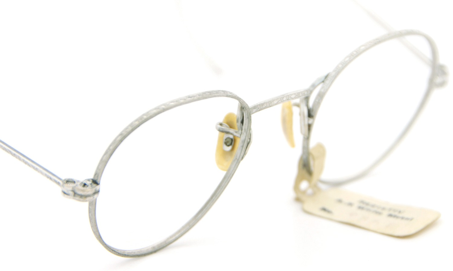 American vintage アメリカン ヴィンテージ メガネ 1930年代 REZISTIV PANTO 1/10 12kGF MASHWOOD CENTER-POINT col.White-Gold 42-21 6