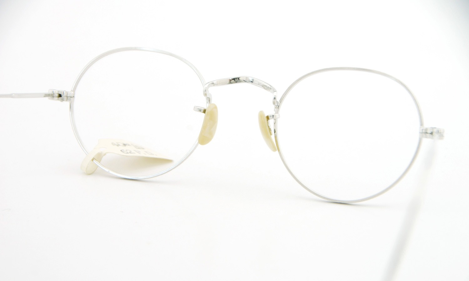 American vintage アメリカン ヴィンテージ メガネ 1930年代 PANTO 1/10 12kGF MASHWOOD CENTER-POINT col.White-Gold 42-20 7