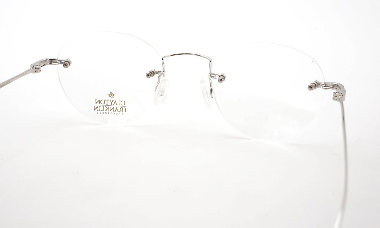 CLAYTON FRANKLIN (クレイトンフランクリン) メガネ 592 SL 艶ありシルバー 7