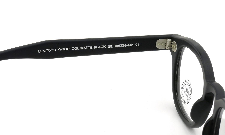MOSCOT ORIGINALS 100YEARS モスコット 100周年記念 限定モデル メガネ LEMTOSH-WOOD レムトッシュウッド COL.MATTE BLACK 46size 9