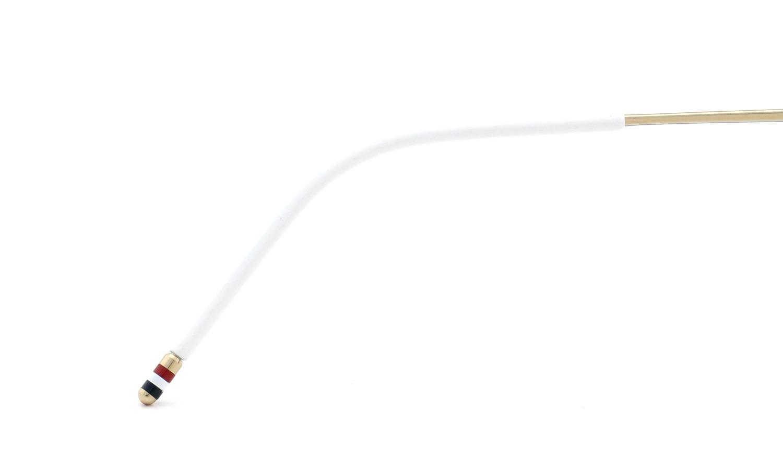 THOM BROWNE.  NEWYORK (トムブラウンニューヨーク) 2015 S/S 最新作 メガネ+クリップオンセット TB-710-B 46size GLD-GRY 14