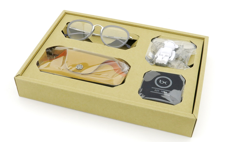 BOSTON CLUB (ボストンクラブ) メガネ 限定生産  ×BE@RBRICK (ベアブリック) コラボレーションボックスセット ALAN col.03 Silver/Grey 16